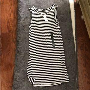 Black & white striped tunic from Banana Republic